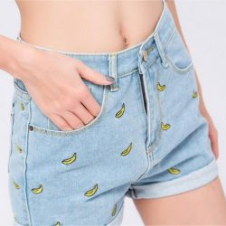 Banana Denim Shorts