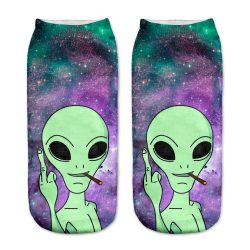 Alien Middlefinger Socks