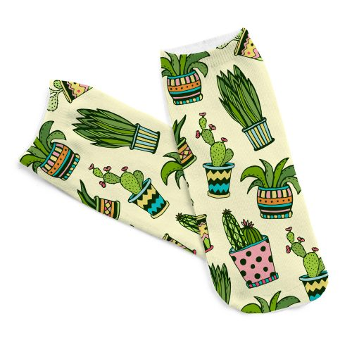 Cactus Plant Socks