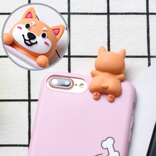 Corgi Butt Dog 3d Silicone iPhone Case Pink