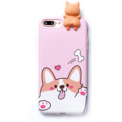Corgi Dog iPhone Case Pink