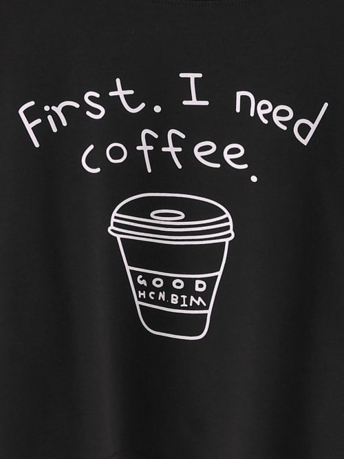 First I Need Coffee Shirt