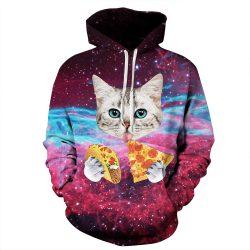Space Pizza Taco Cat Sweatshirt Hoodie