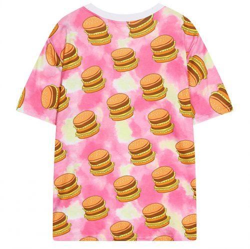 Burger Shirt Color Splash