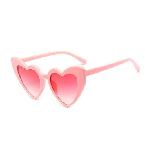Heart Sunglasses Retro Pink