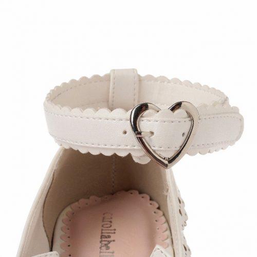 heart buckle heels