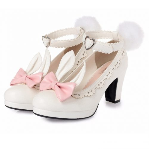 Lolita Shoes Rabbit White