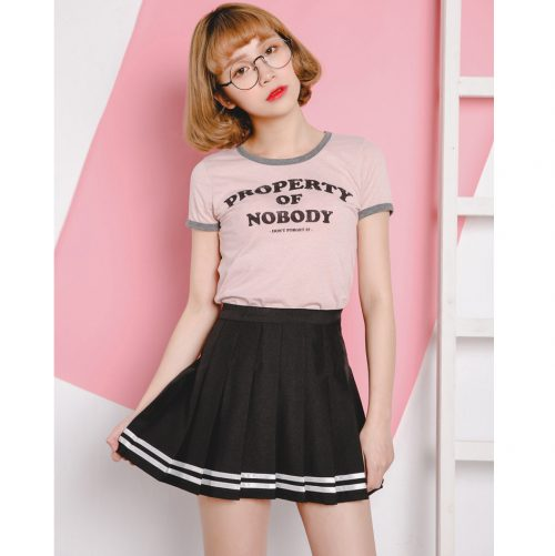 School Girl Pleated Skirt Black