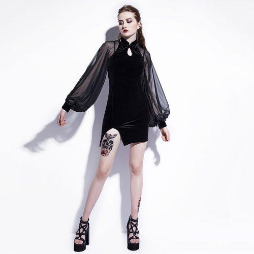 Bodycon Mini Dress Long Sleeve Puffy Arm