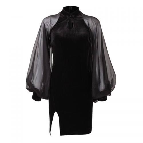 Party Dress Long Sleeve Puffy Arm