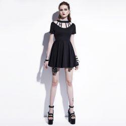 Gothic A-line mini dress