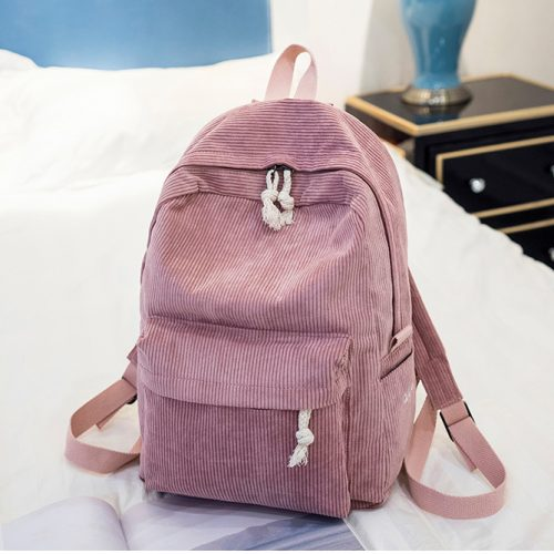Cute pink backpack for school