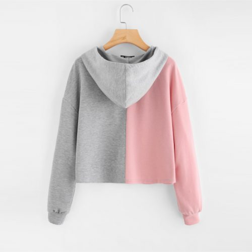 Barbie Sweatshirt Color block pink grey