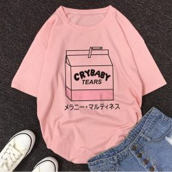 Cry Baby Tears Cartoon Box Shirt
