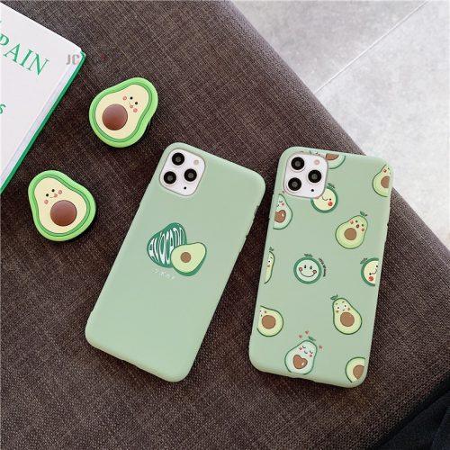 Avocado Soft Silicone iPhone Case Popgrip