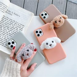 Plush Teddy Soft Phone Case Popgrip