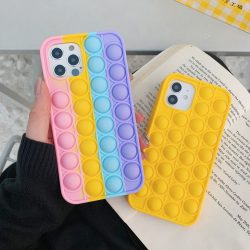 Pop Fidget Bubble Silicone Phone Case For iPhone