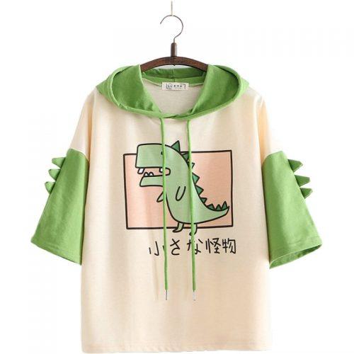 Dinosaur Short Sleeve Sweatshirt